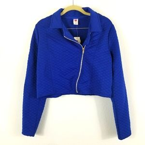 TOTAL GIRL BLUE QUILTED BOMBER JACKET , SIZE XXL